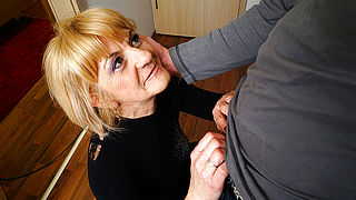 Horny mature lady doing her toyboy