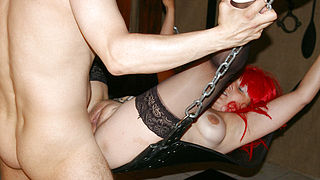 Kinky housewife fucked in the basement