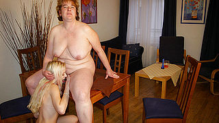 Big mama having fun with one hot young babe