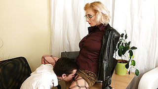 Naughty mom seducing a horny toy boy