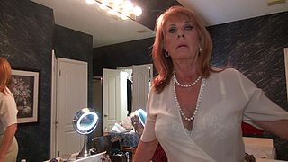 Sexy mature would gladly remove her clothes for her step son