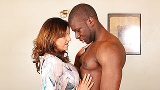 Hot British mom cheating on her husband with a strapping black guy