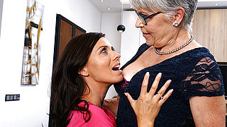 Naughty lesbian housewives go all the way